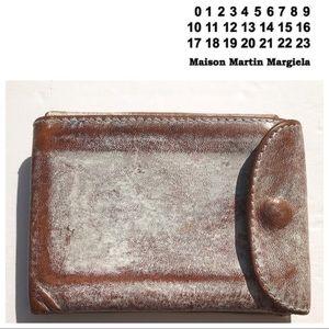 Maison Martin Margiela whitewash Leather Wallet